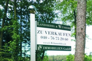 Immobilienmakler Maklergalgen Haus Zu verkaufen Schild Schilder